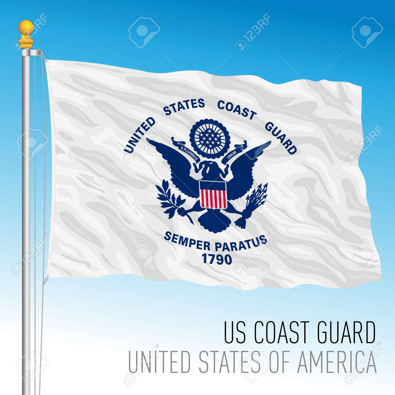 US Coast Guard flag, United States of America, vector illustration - 172958758