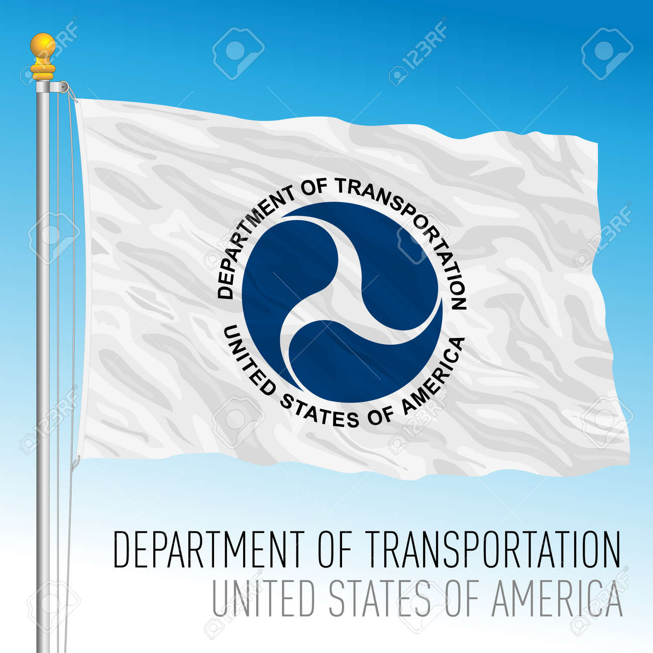 US Department of Transportation flag, United States of America, vector illustration - 172957374