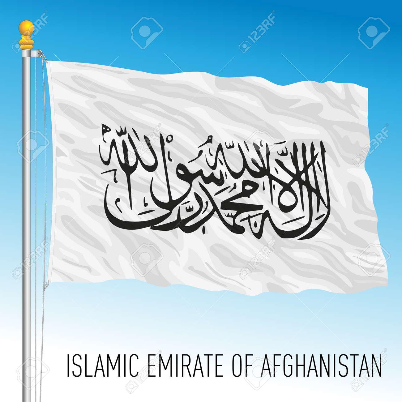 Islamic Emirate of Afghanistan national flag, vector illustration - 172973695