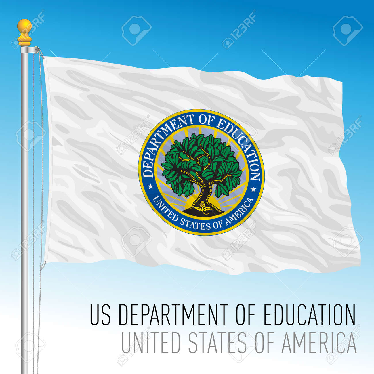 US Department of Education flag, United States of America, vector illustration - 172982801