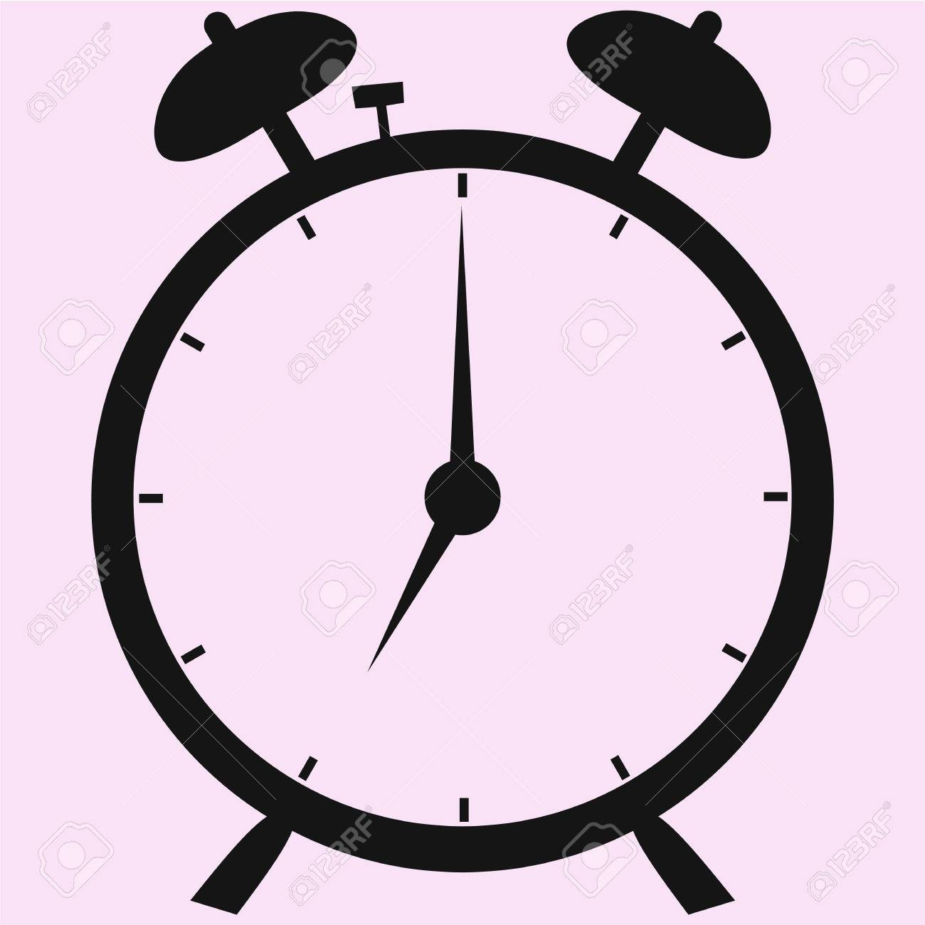 clock vector image Alarm Clock Vector Silhouette Isolated Royalty Free Cliparts ...