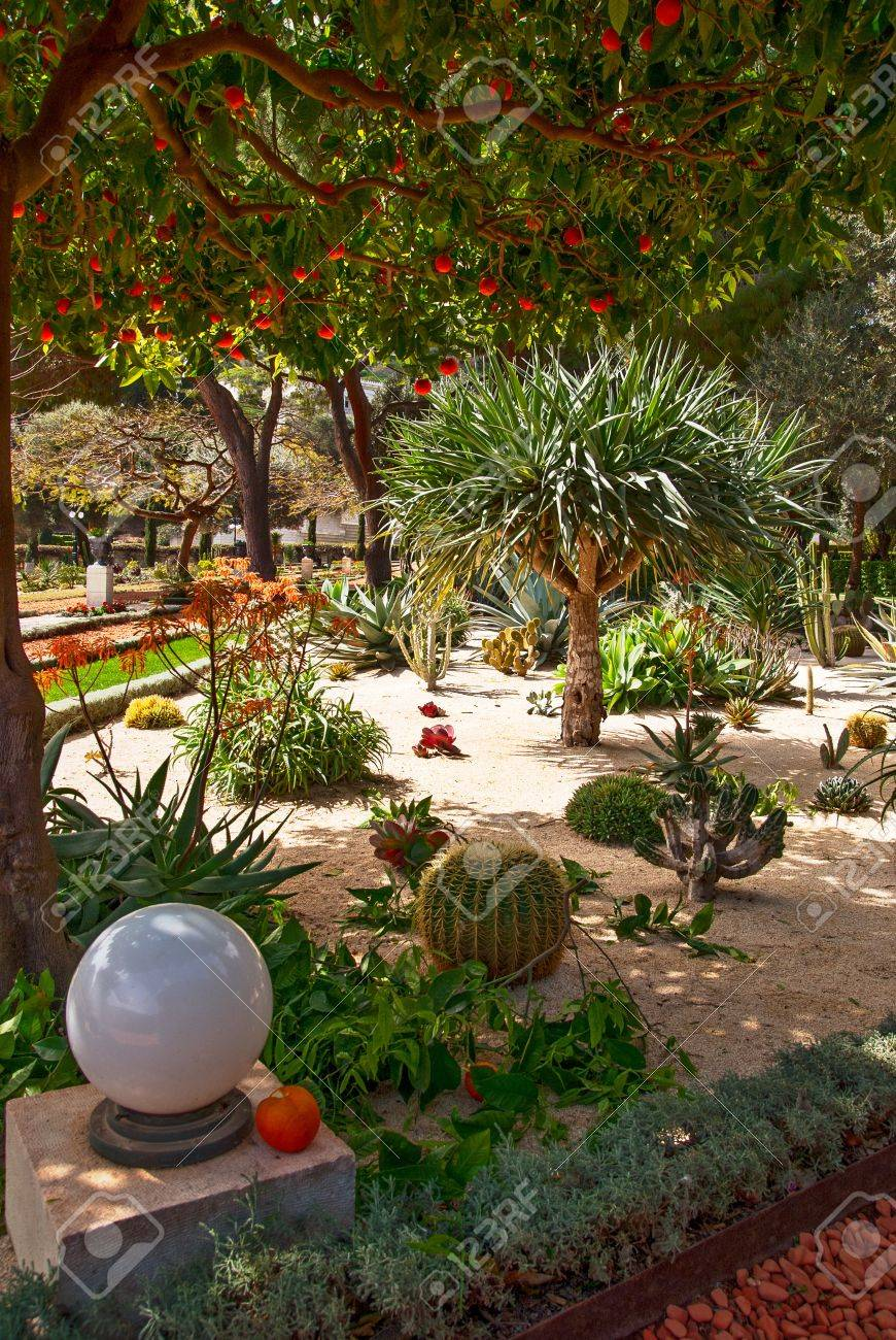 fragment of famous Bahai gardens in Haifa, Israel Stock Photo - 13281496