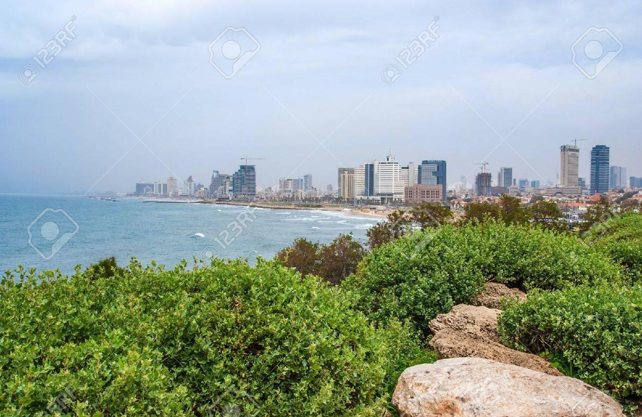 Tel-Aviv beach panorama  Jaffa  Israel Stock Photo - 13550158
