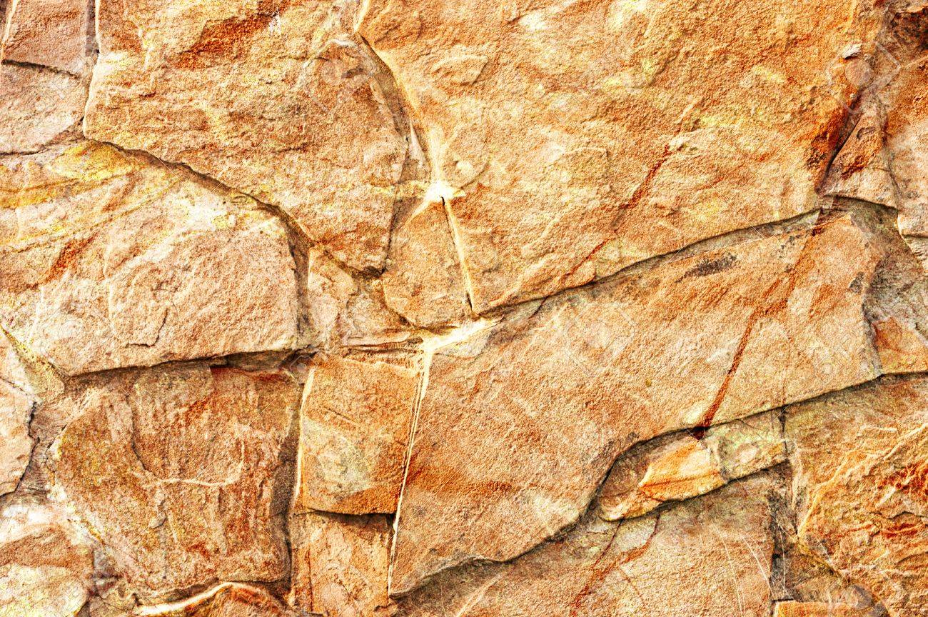 Decorative Stone Wall Texture In Yellow Color Stock Photo, Picture ...