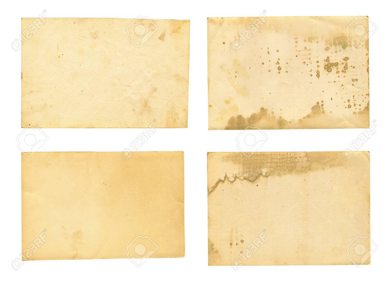 collection of various old photos on white background  each one is shot separately Stock Photo - 17961865