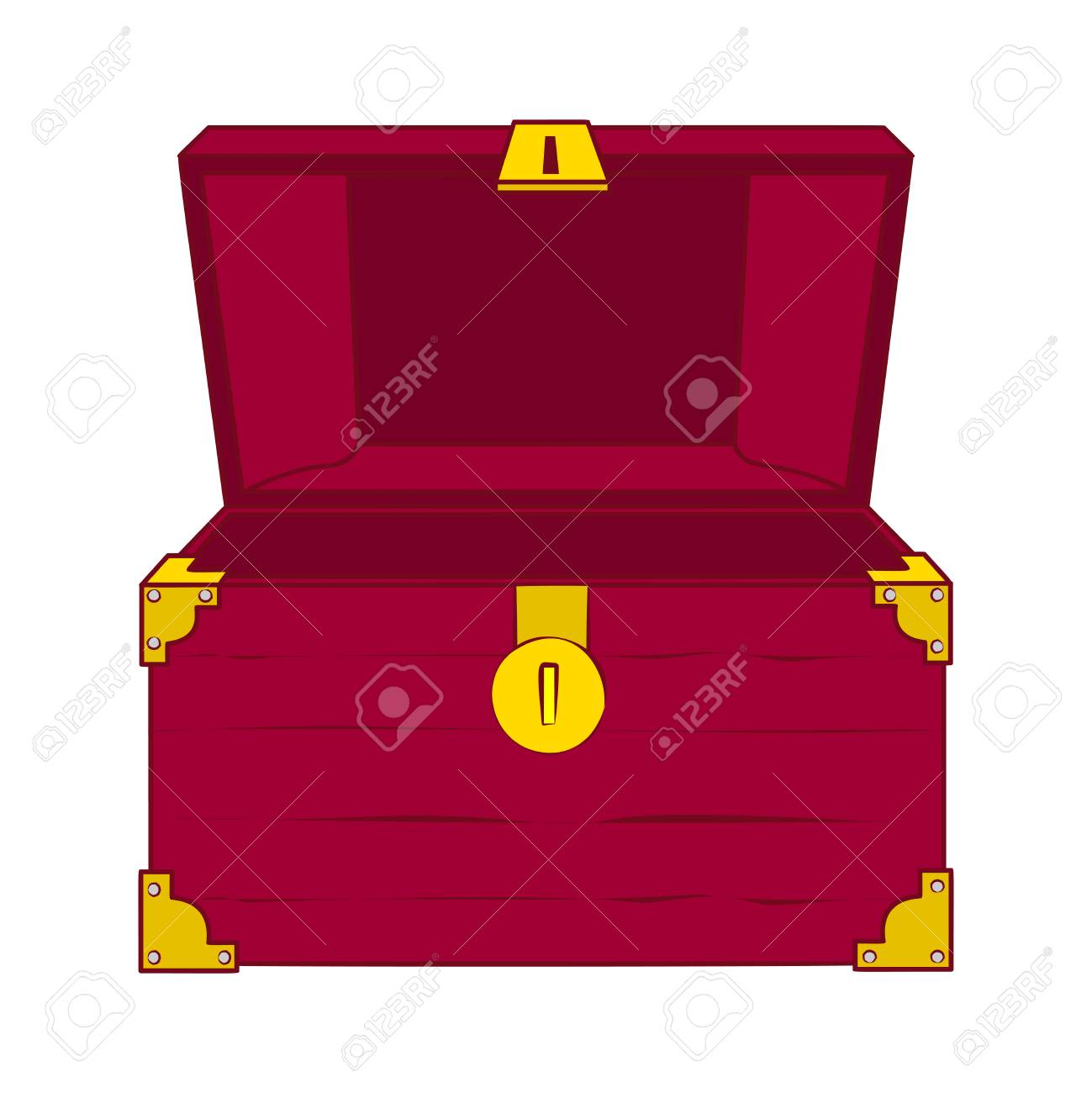 illustration of open wooden treasure chest with nothing in it rh 123rf com treasure chest vector cartoon treasure chest vector art