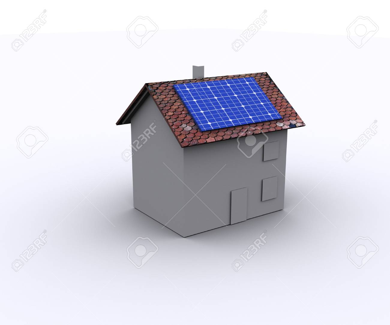 House With Solar Energy And Wind Turbine To Make Money And Protect ...
