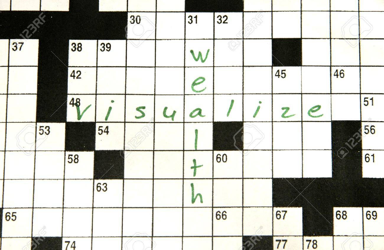Crossword puzzle page with words