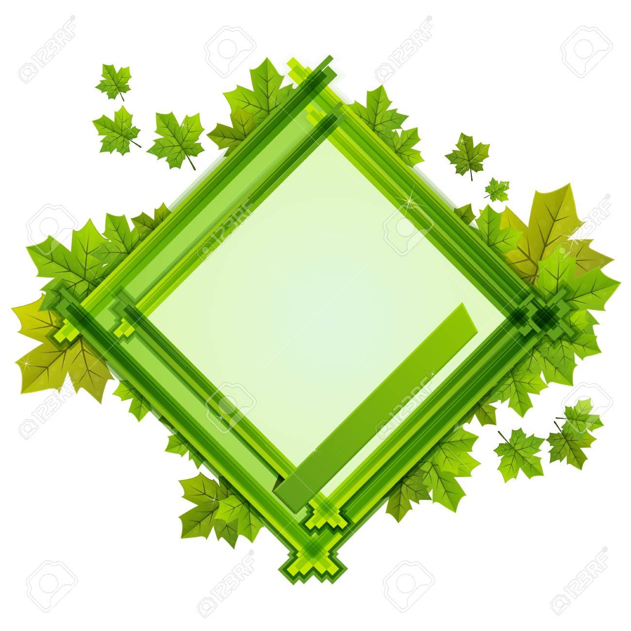 Inquadrare Con La Composizione Delle Foglie Di Varie Dimensioni In Tonalità Di Sfondo Verde E Bianco