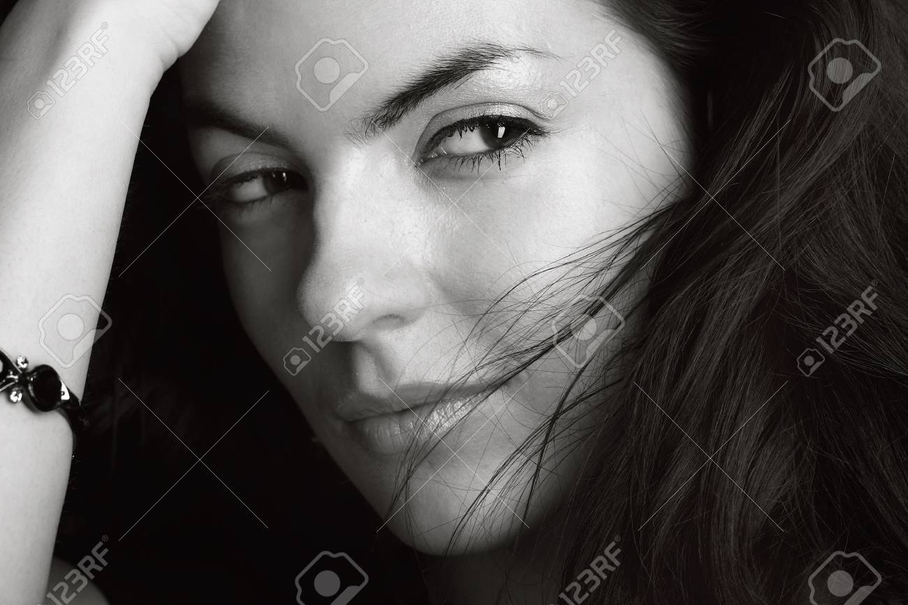 Young beautiful brunette Caucasian girl. Stock Photo - 5632968