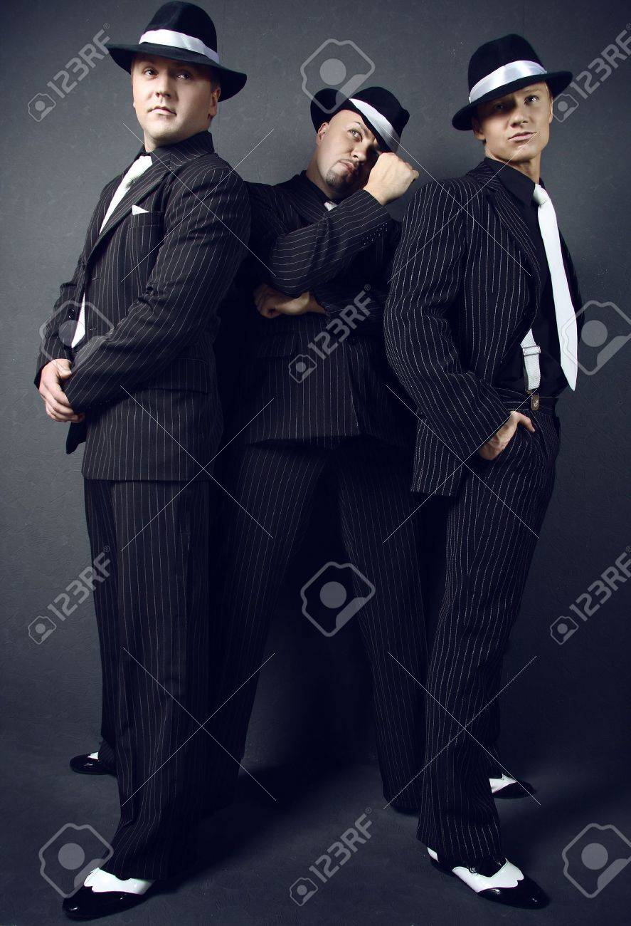 Three gangsters. Stock Photo - 5776367