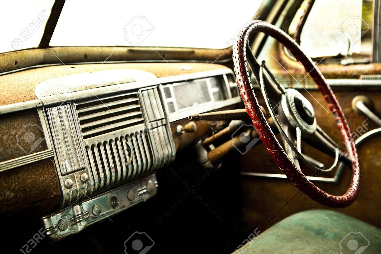 Grunge and hight rusty elements of old luxury car  Photo Stock Photo - 13065772