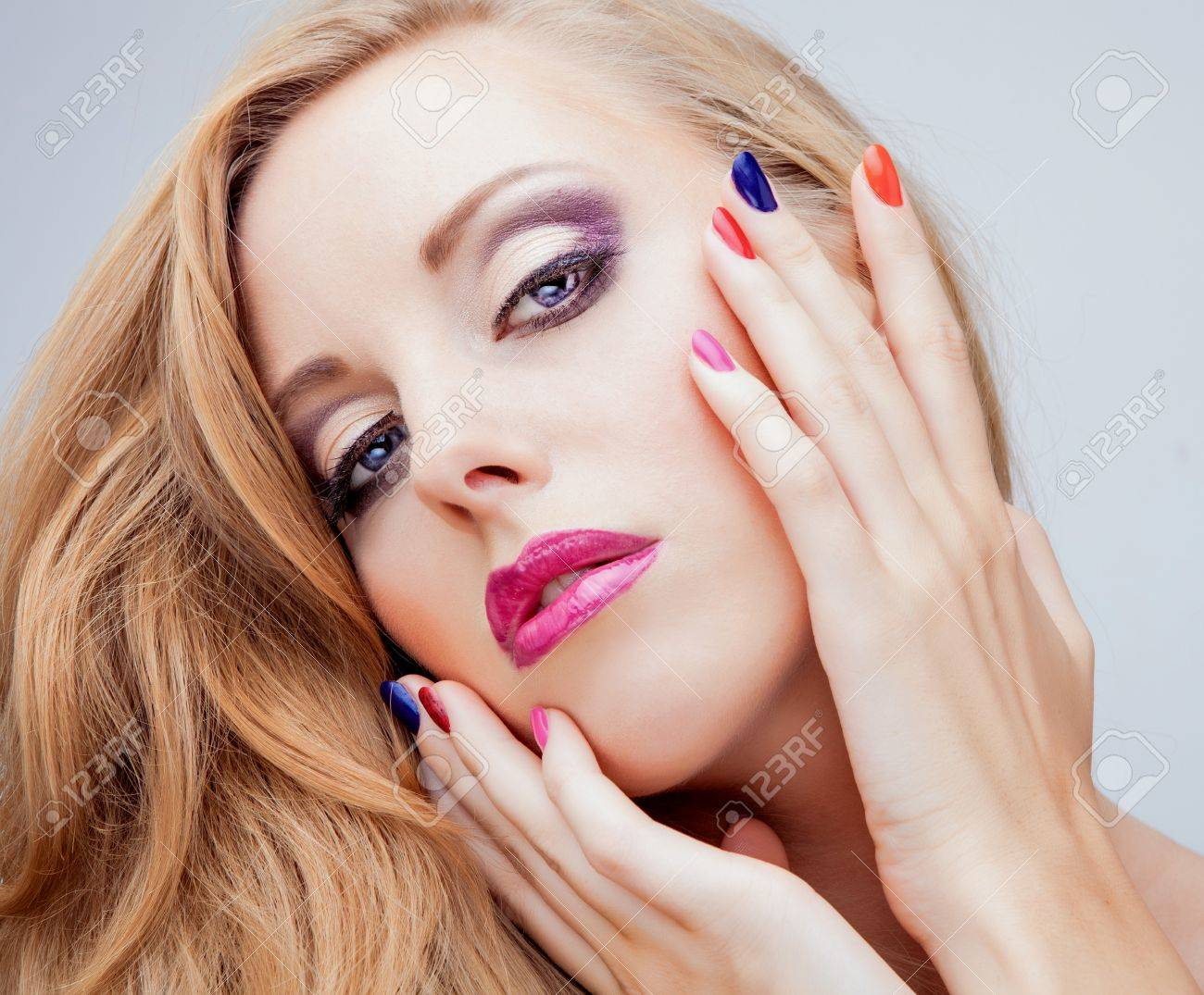 Natural health beauty of a woman face Stock Photo - 15577822
