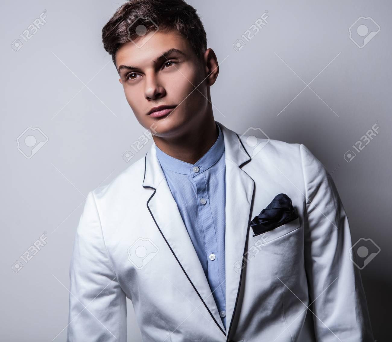 Elegant young handsome man  Studio fashion portrait Stock Photo - 15577697