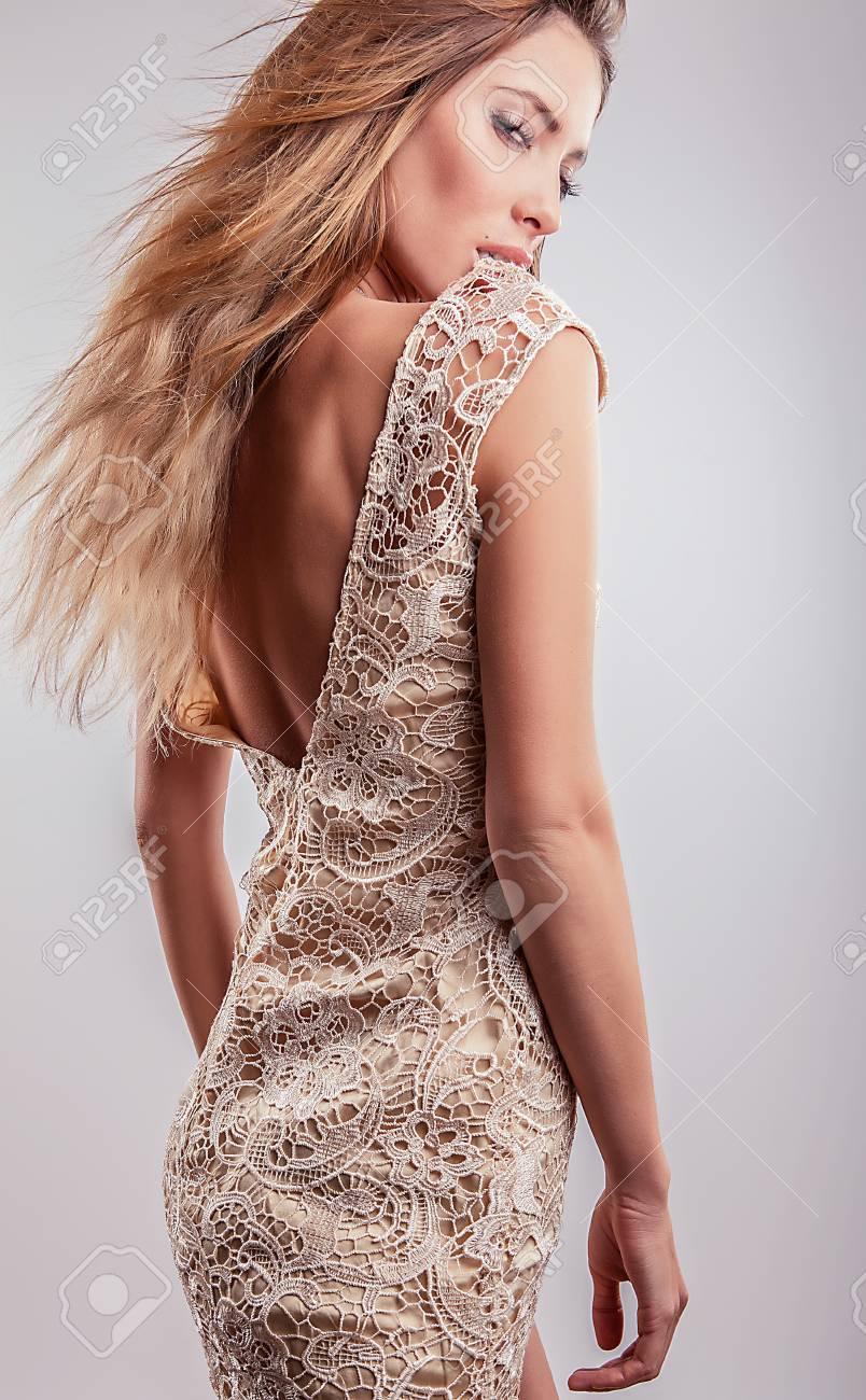 Young sensual model girl pose in studio Stock Photo - 17130107