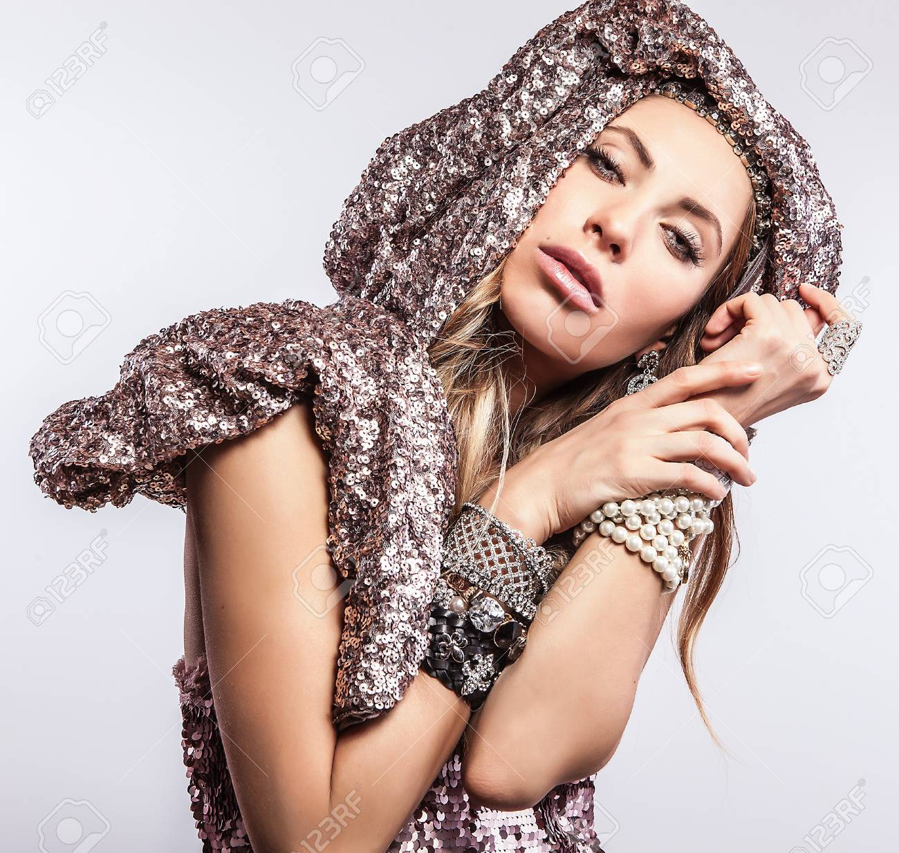 Luxury   beauty woman in a fashionable clothes Stock Photo - 17130105