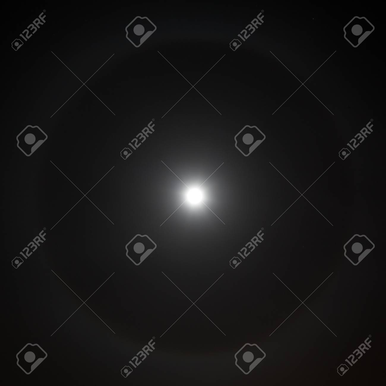 Closeup of full moon with rare light aura