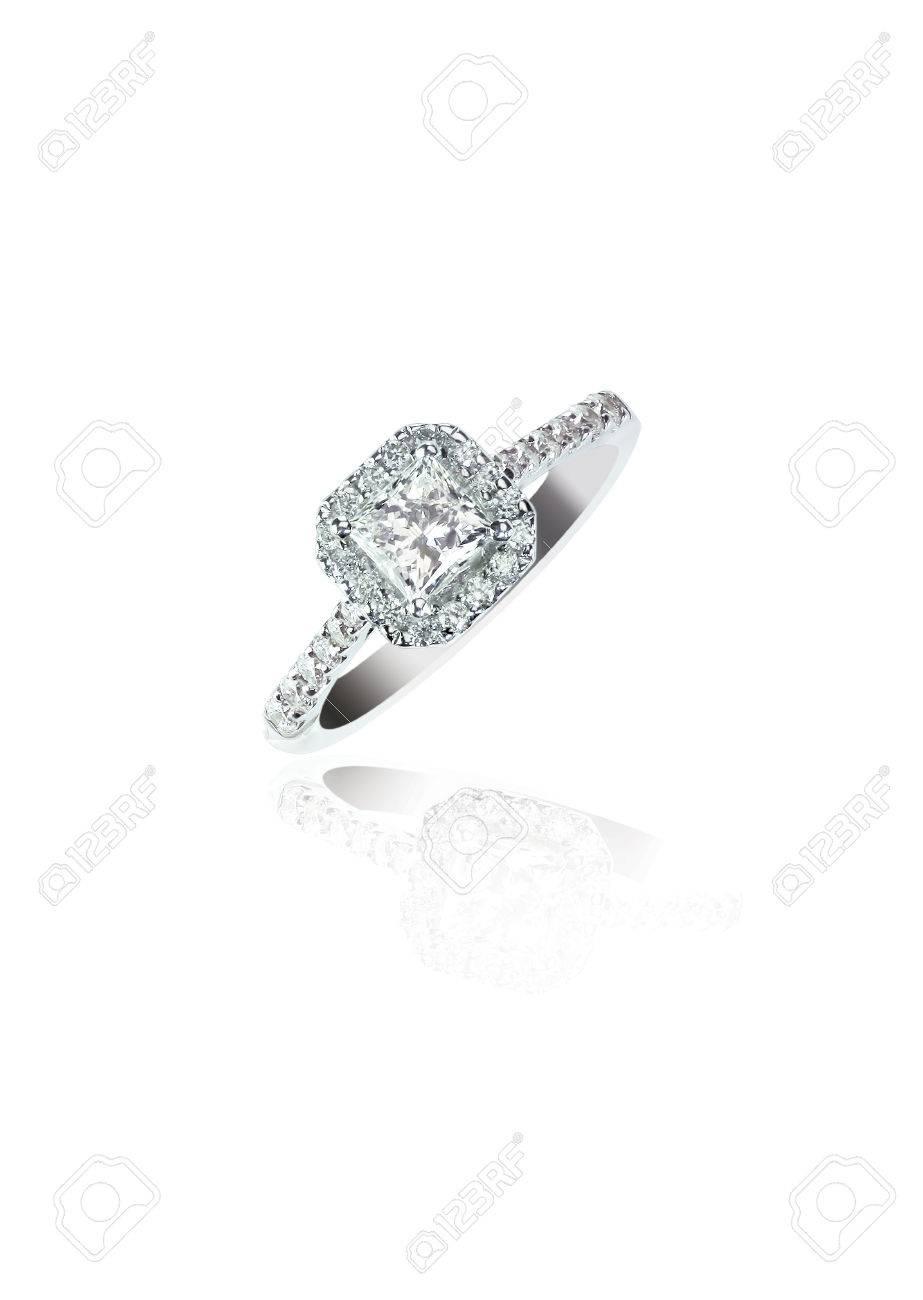 Princess Cut Diamond Wedding band engagement ring - 54184978