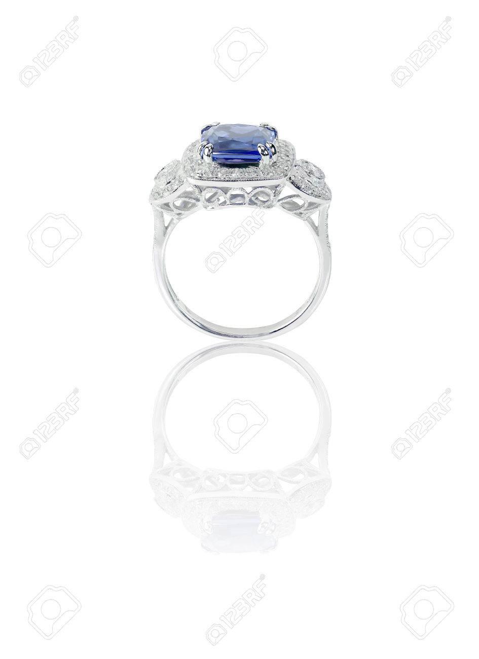 Verlobungsring Mit Stein | Schone Saphir Und Diamant Hochzeit Verlobungsring Edelsteinzentrum