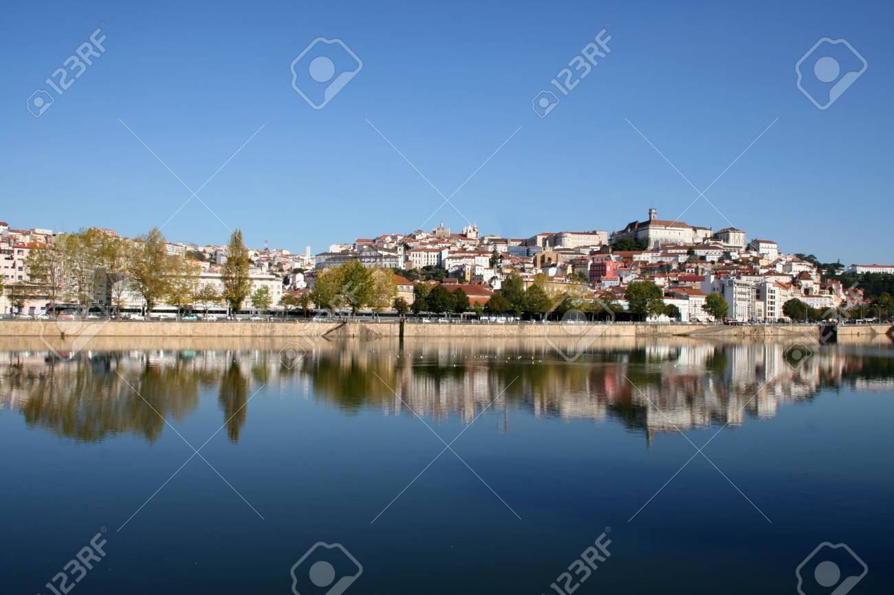 The city of Coimbra with it's University on the top. Stock Photo - 7455588