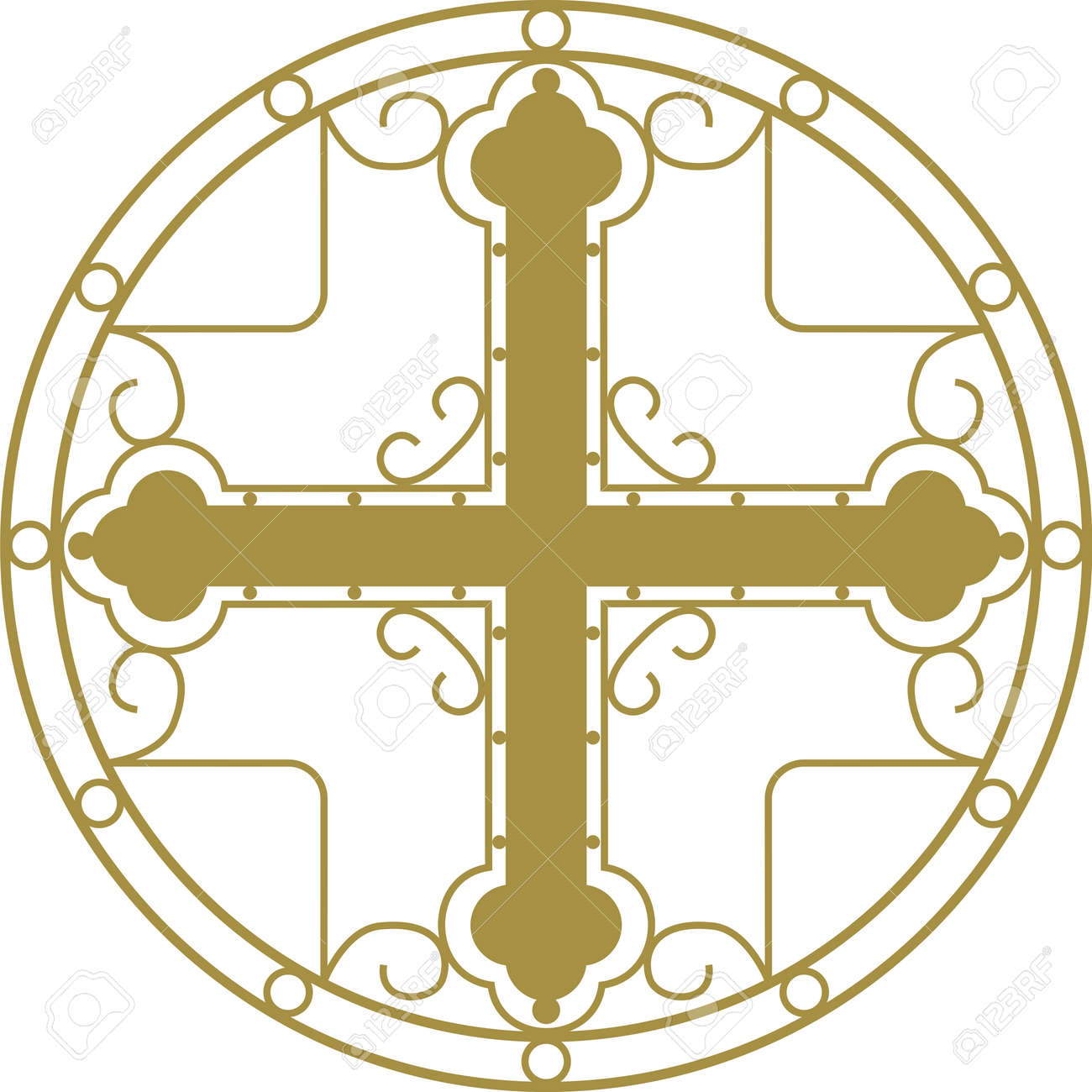 Christian Holy cross with ornament - 4402864