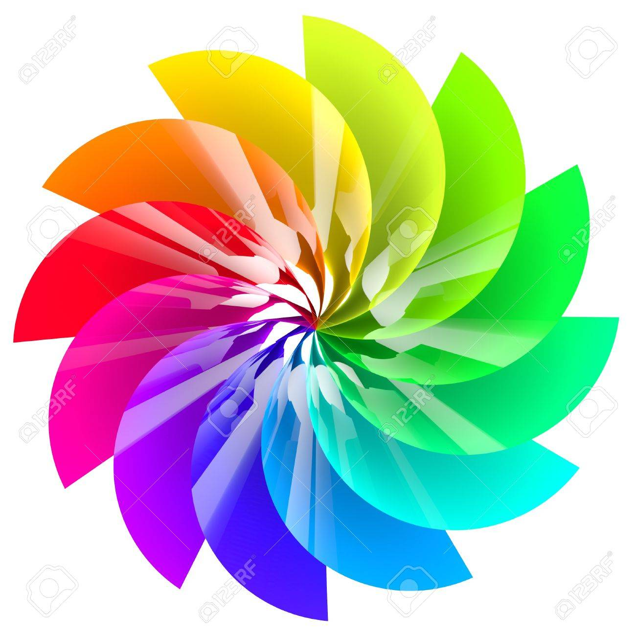 Colorful abstract flower isolated on white background Stock Photo - 16184235