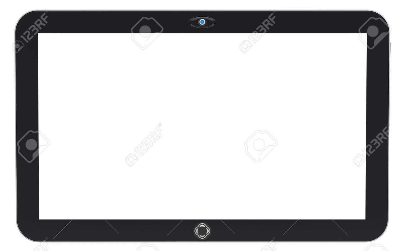 Abstract tablet PC isolated on white background. 3d render. Stock Photo - 16643452