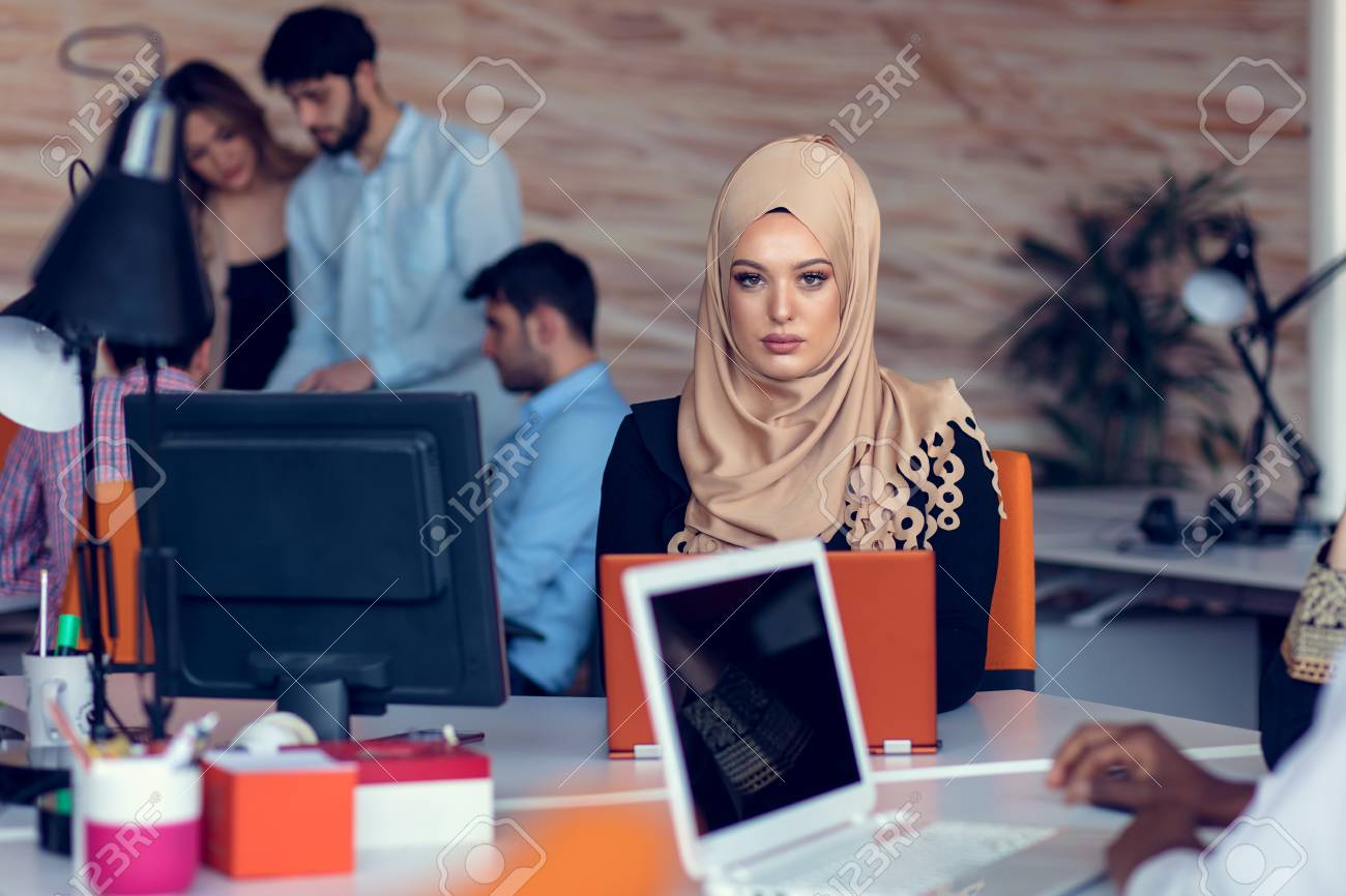 young creative startup business people on meeting at modern office making plans and projects - 108463715