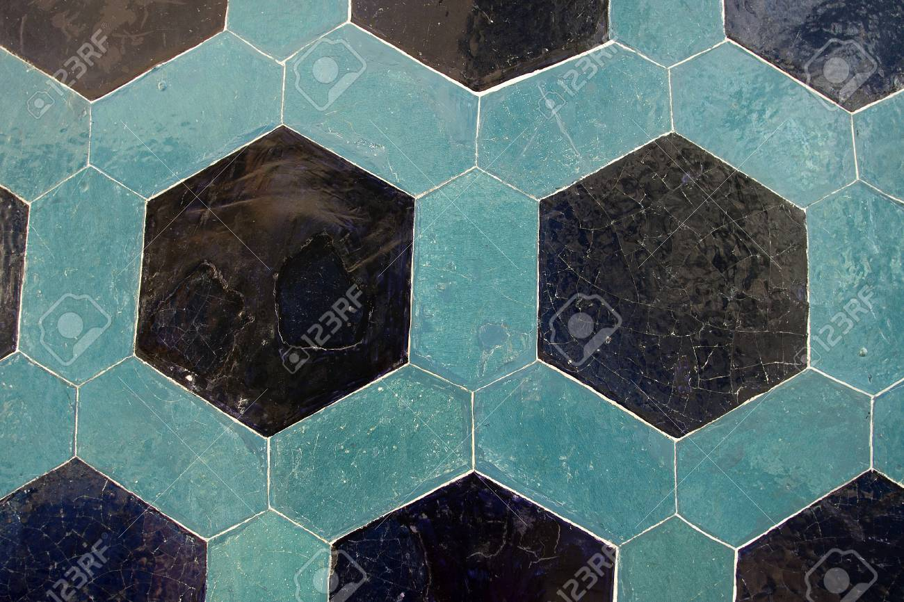 Ancient Tile Pattern On Ceramic Wall In ?stanbul Archeology Museum ...