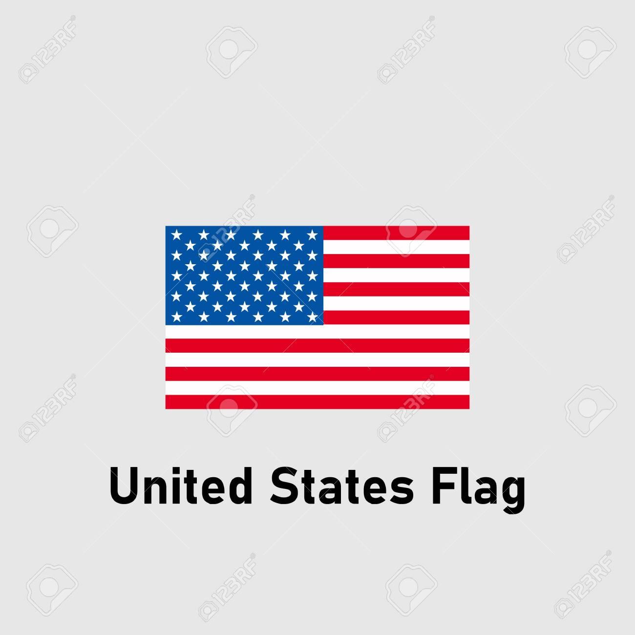 USA Flag. Flag of United States. Isolated vector illustration. - 139891742
