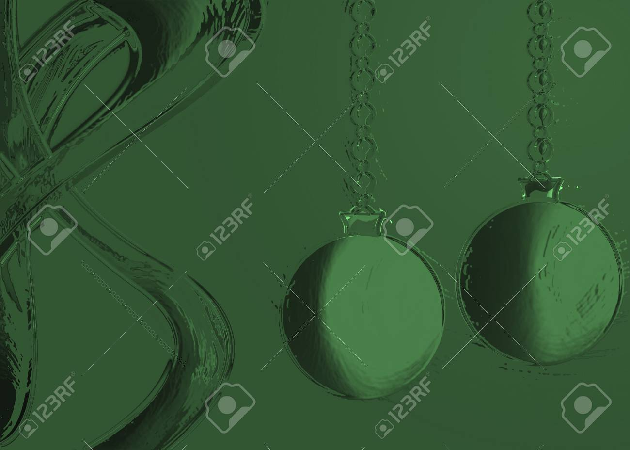 Abstract retro Christmas background illustration in green Stock Photo - 14110027