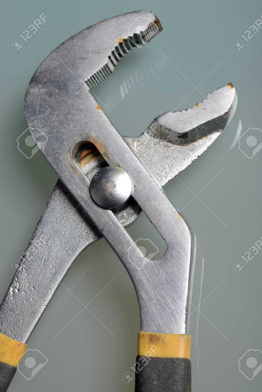 close-up image of pliers on plain background Stock Photo - 19012292