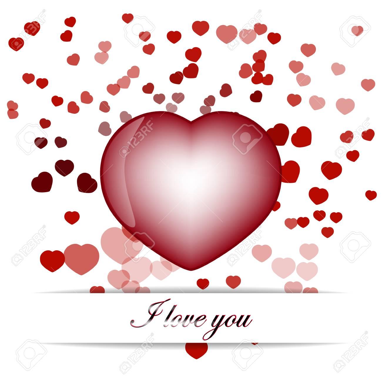 ハート型赤 Valentine S 日の壁紙のイラスト素材 ベクタ Image