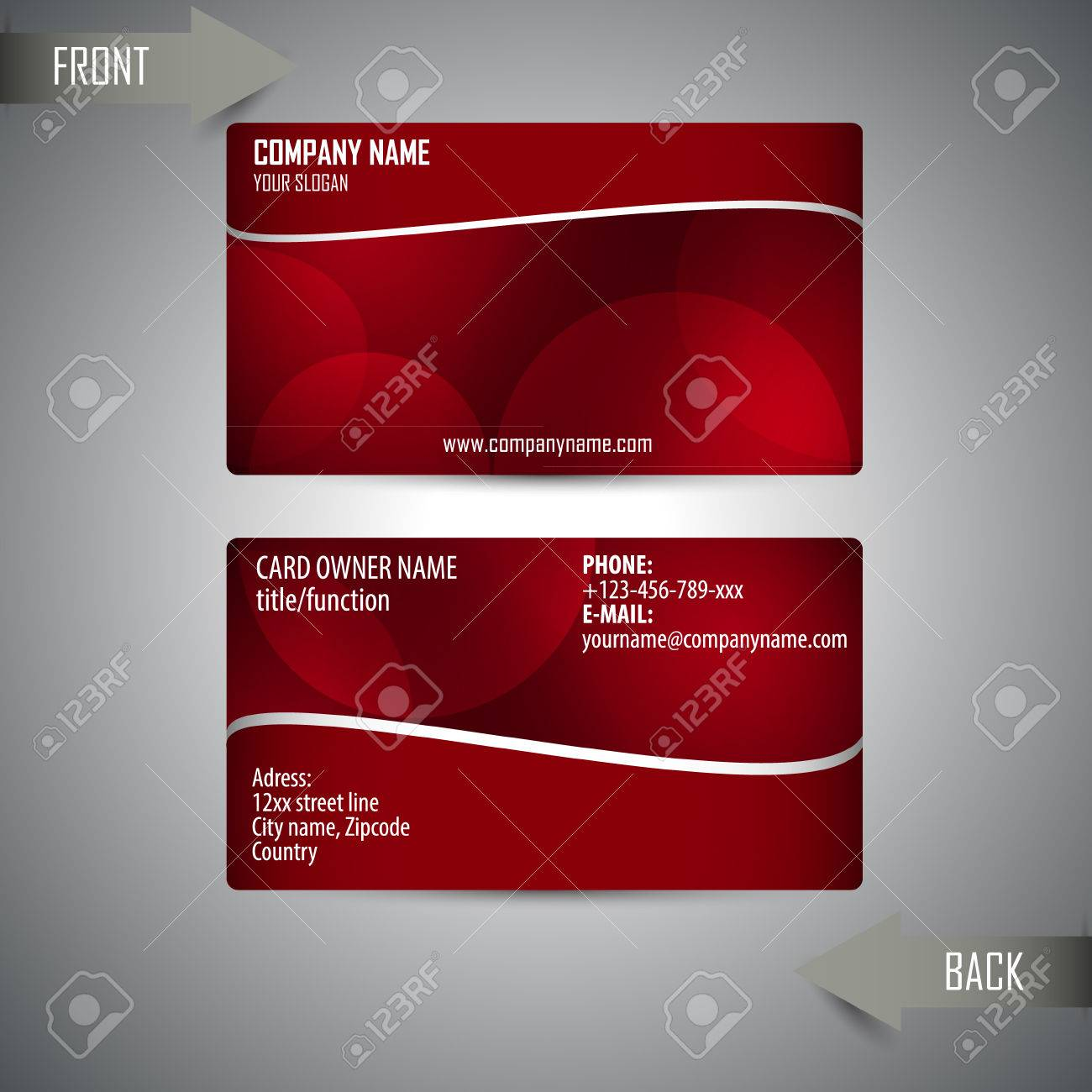 Modern red business card template royalty free cliparts vectors modern red business card template stock vector 26046074 wajeb Images