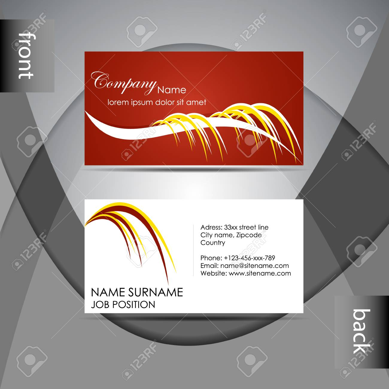 Abstract professional business card template or visiting card abstract professional business card template or visiting card set stock vector 26771025 cheaphphosting Image collections