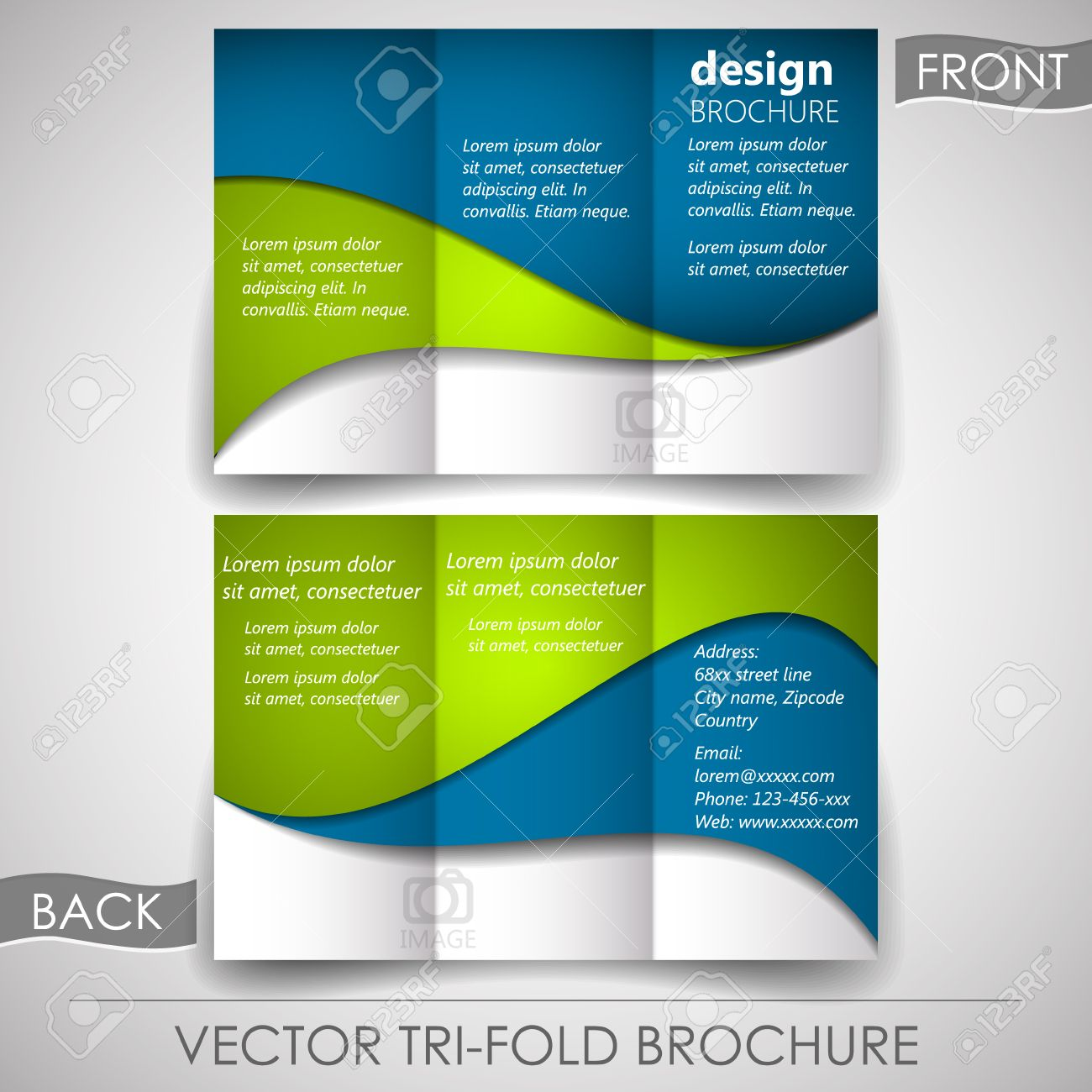 business tri fold flyer template or corporate brochure cover business tri fold flyer template or corporate brochure cover design stock vector 29655691