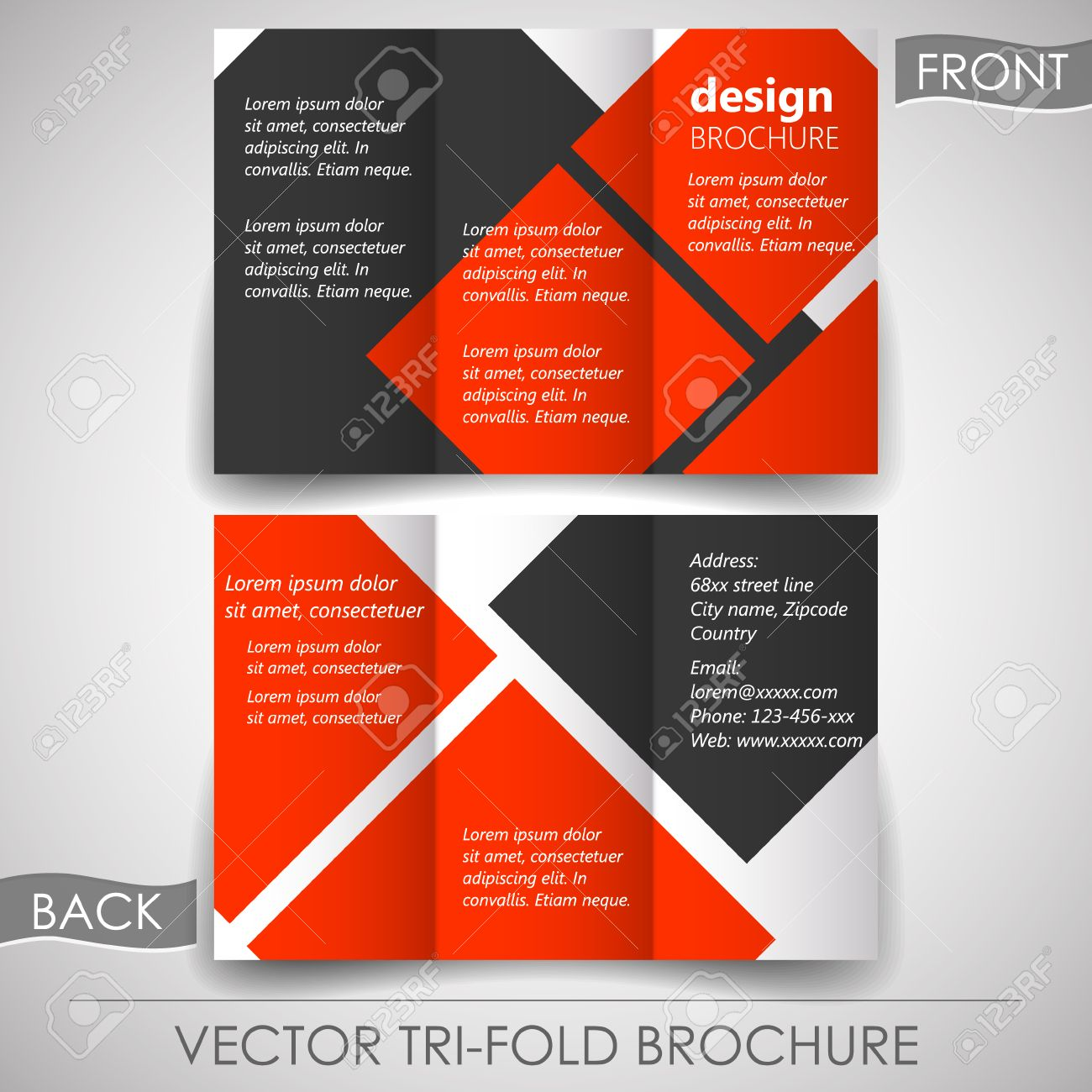 Business Tri-fold Flyer Template Or Corporate Brochure, Cover ...