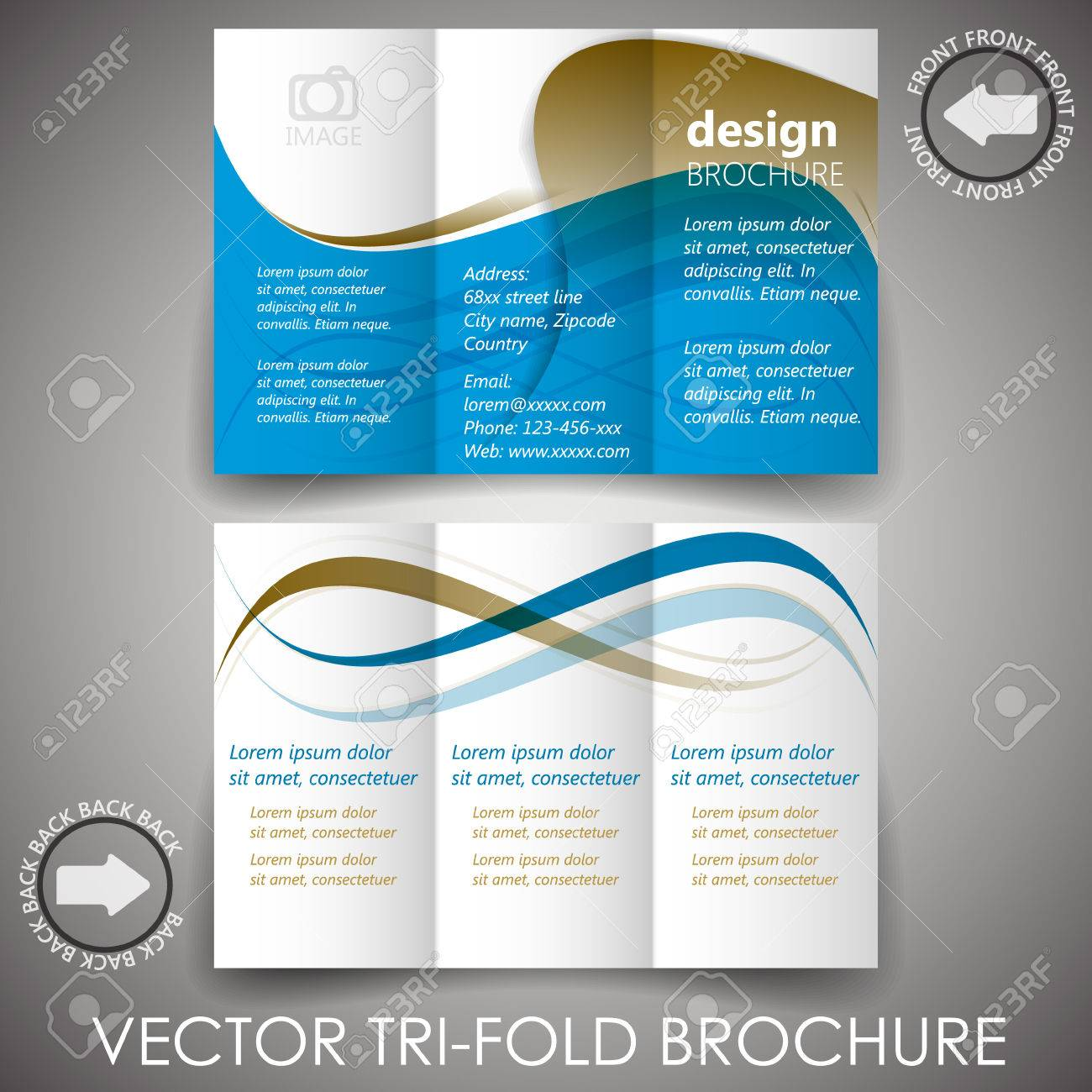 business tri fold flyer template or corporate brochure cover business tri fold flyer template or corporate brochure cover design stock vector 29655696