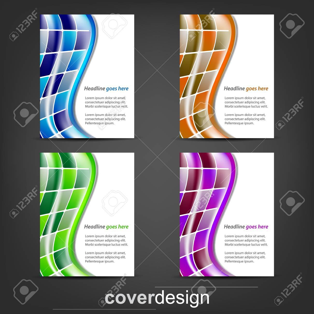 Conjunto De Volante Corporativo, Plantilla Cartel O Diseño De La ...