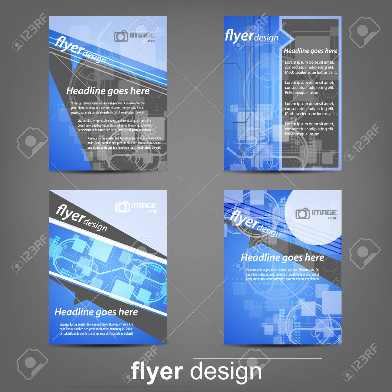 Set Of Business Flyer Template Corporate Banner Cover Design