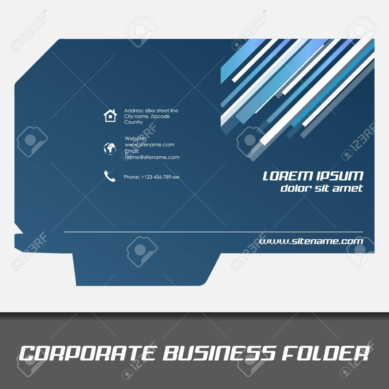Corporate business folder template document folder royalty free corporate business folder template document folder stock vector 32866915 flashek Image collections