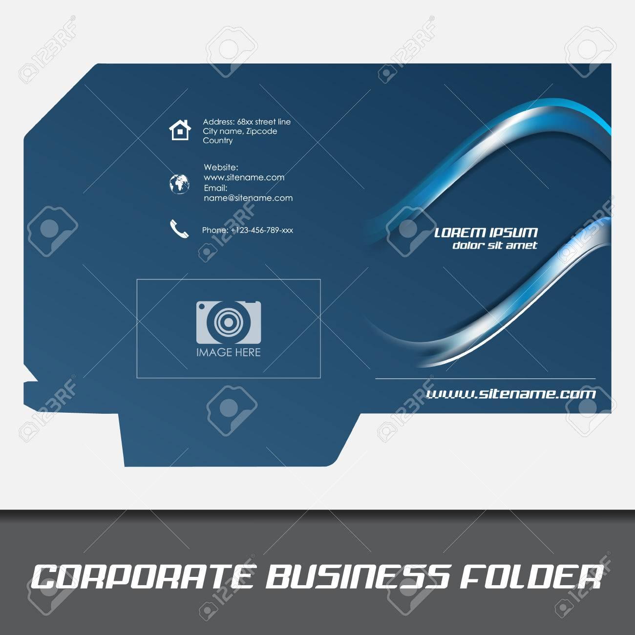 Corporate business folder template document folder royalty free corporate business folder template document folder stock vector 32866916 flashek Image collections