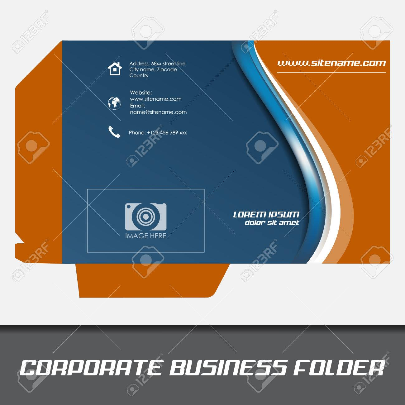 Corporate business folder template document folder royalty free corporate business folder template document folder stock vector 32866868 wajeb Choice Image