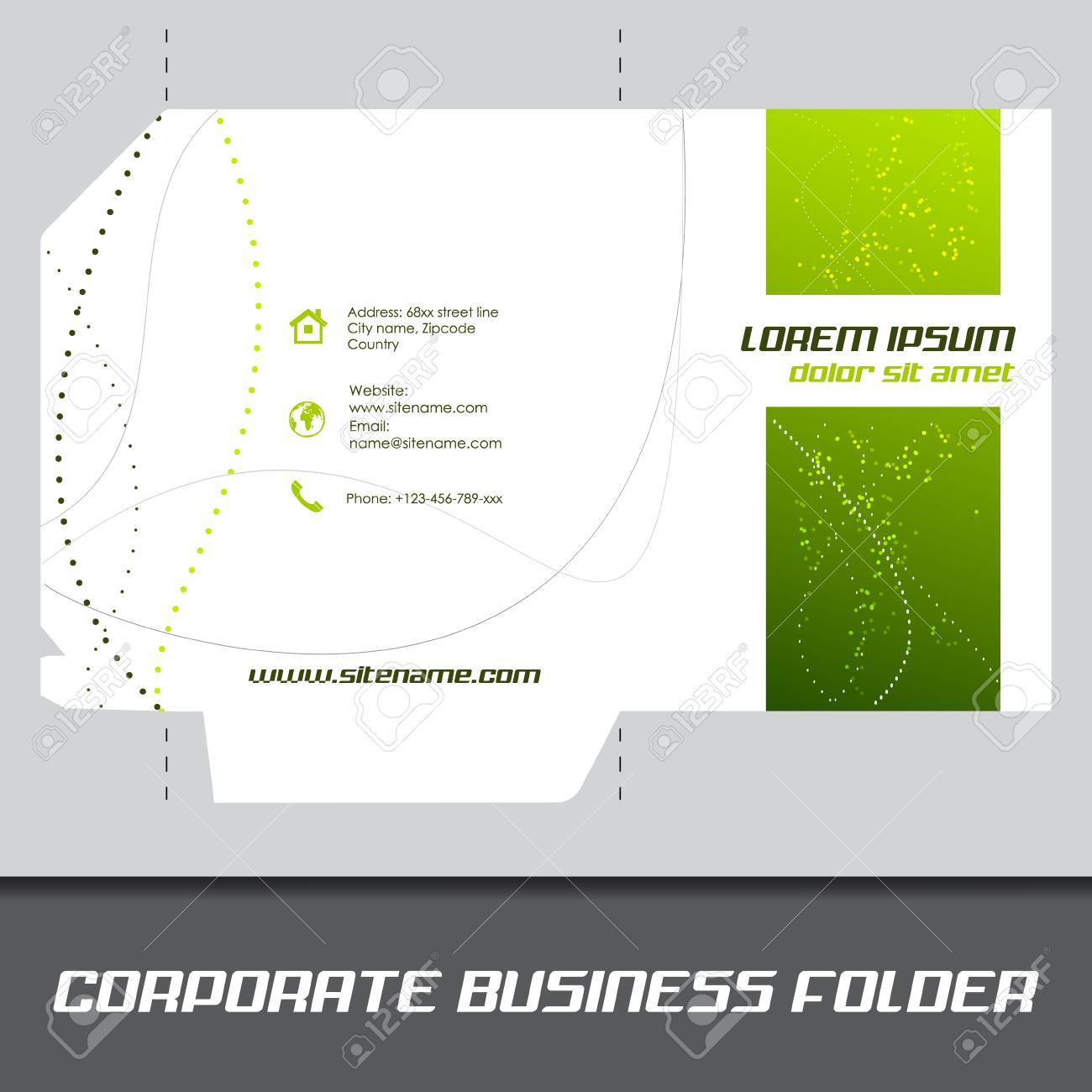 Corporate business folder or document folder template editable corporate business folder or document folder template editable vector design stock vector 33024391 wajeb Choice Image