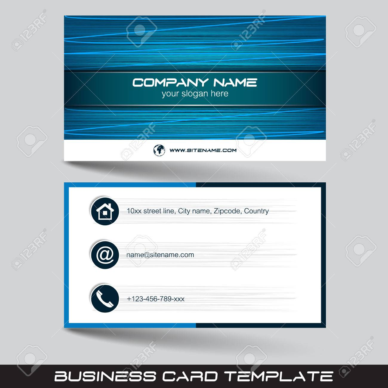 Business card template or visiting card set vector illustration business card template or visiting card set vector illustration with front and back side flashek Choice Image