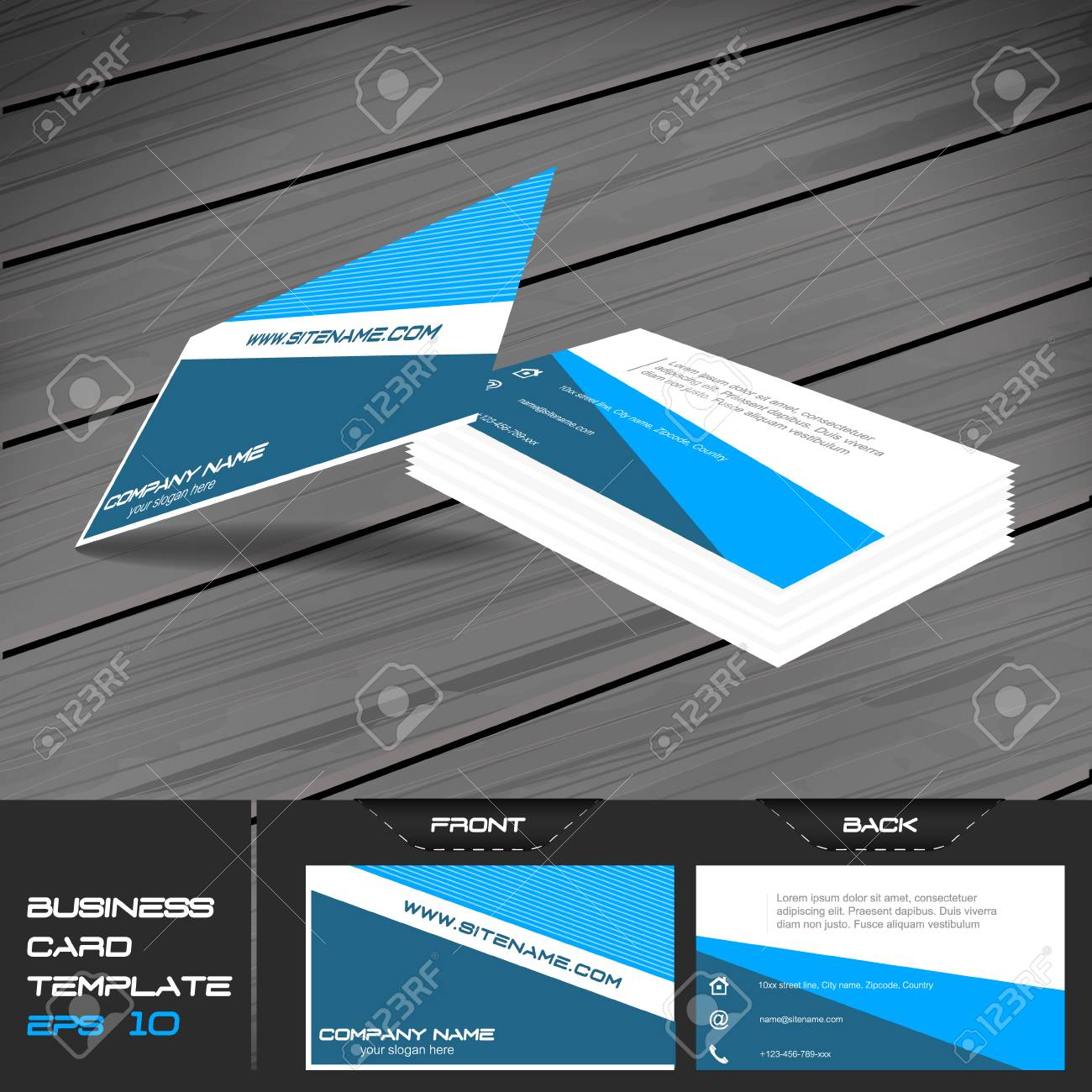 Business card or visiting card template vector illustration business card or visiting card template vector illustration with front and back side stock vector colourmoves
