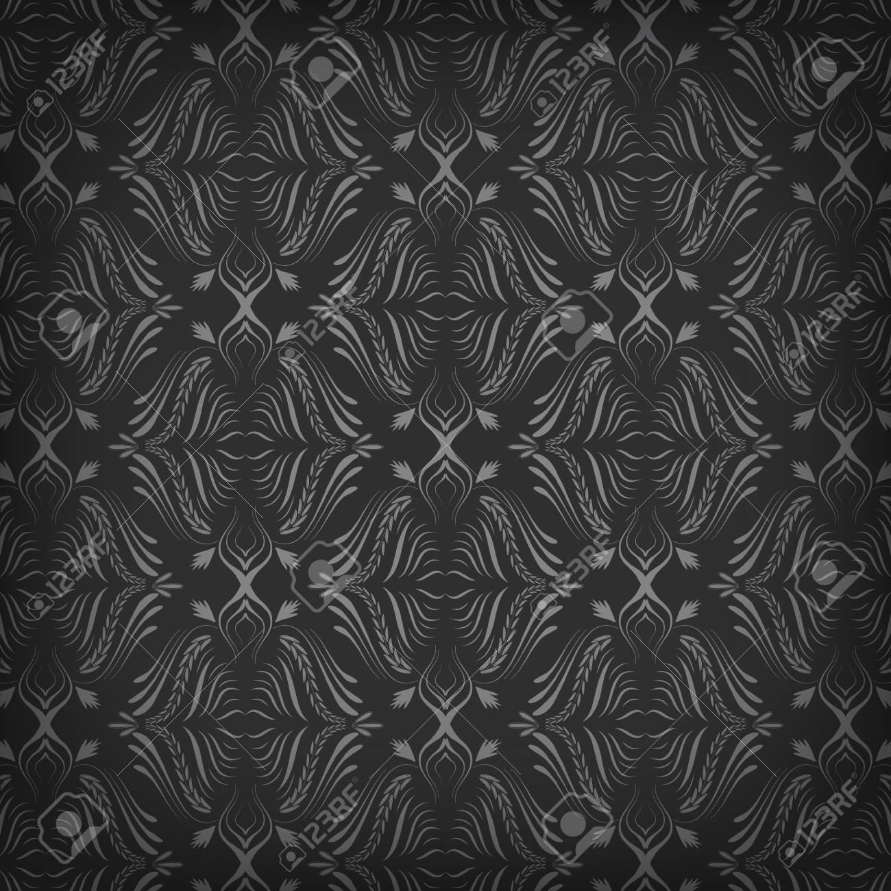 Fond D Écran Noir fond d'écran noir avec pattern illustration vectorielle clip art