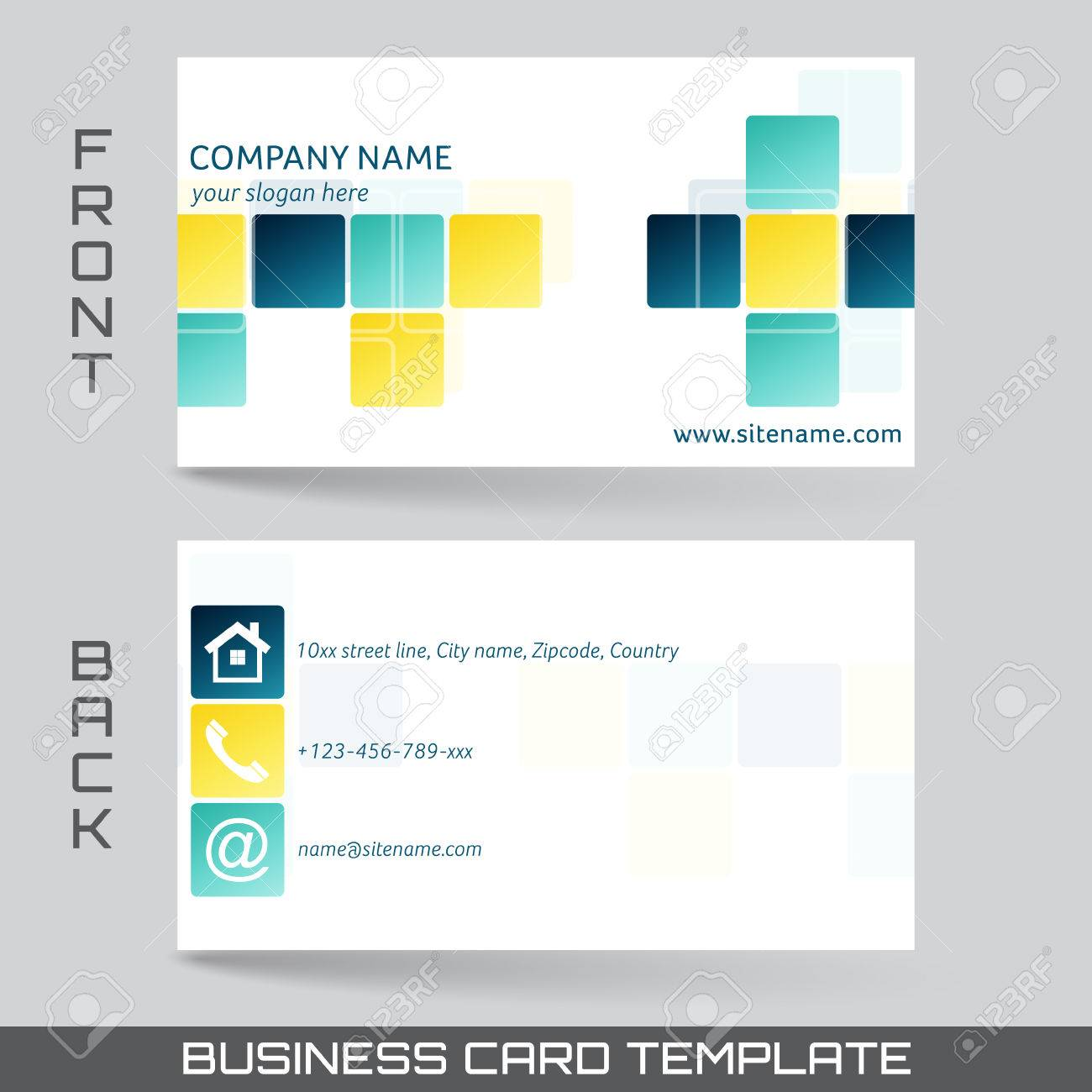 Business card template or visiting card set front and back side business card template or visiting card set front and back side stock vector 40602378 colourmoves