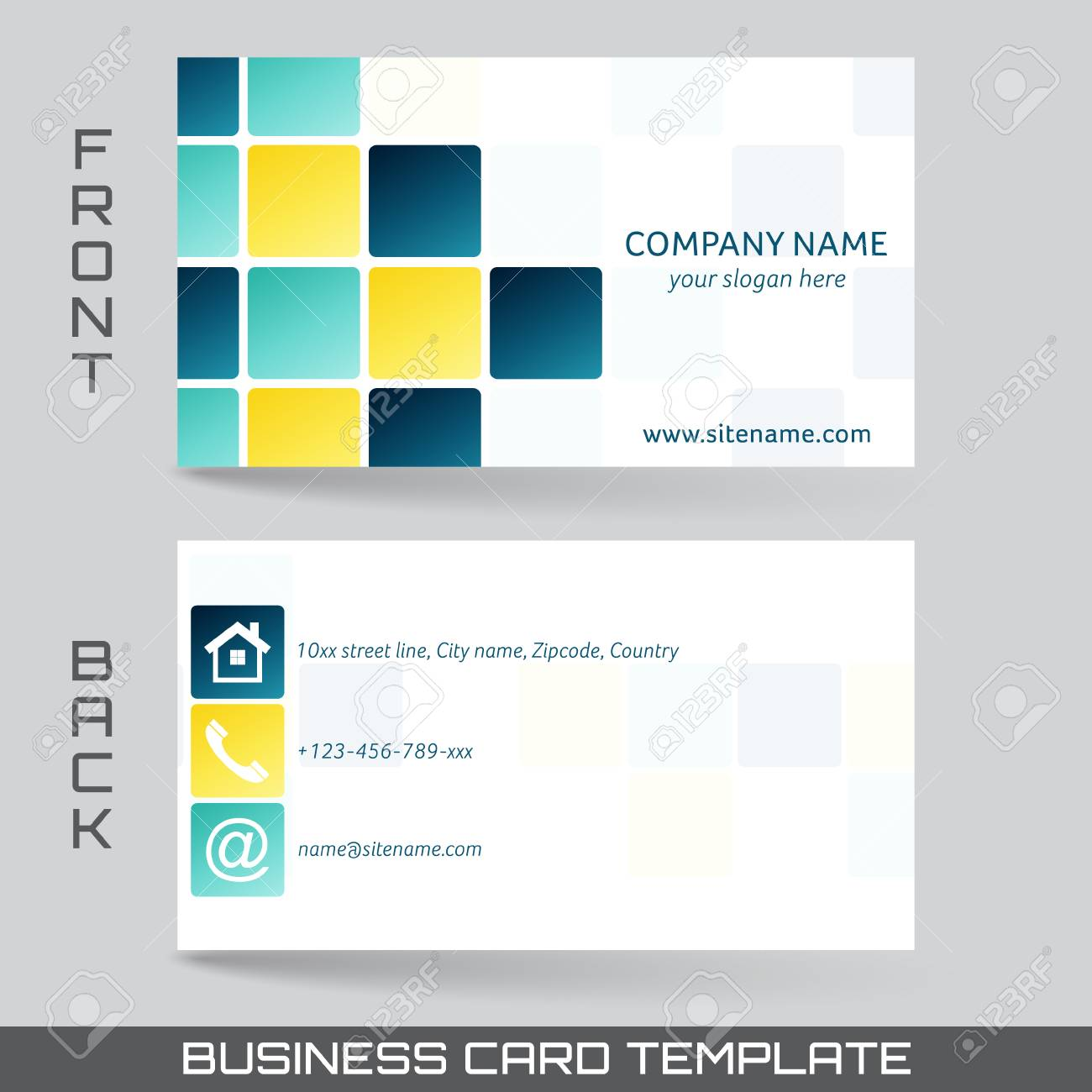 Business card template or visiting card set front and back side business card template or visiting card set front and back side stock vector 40602379 colourmoves