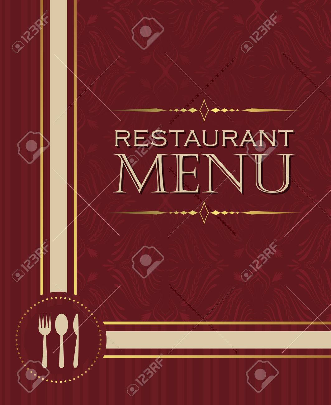 Restaurant Menu Design Cover Template In Retro Style Vector Royalty Free Cliparts Vectors And Stock Illustration Image 43142063
